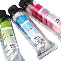 Lot de 5 Tubes Peinture Gouache Translucides Contenant