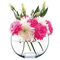 Grand Vase Boule en Verre Centre de Table