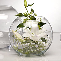 Grand Vase Boule en Verre Centre de Table