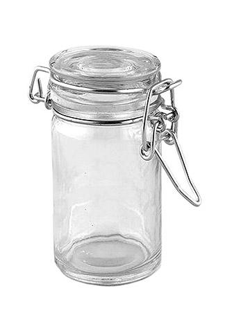 Pot en verre style conserve Pas Cher