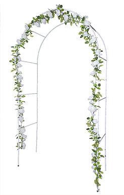 Arche Mariage en Métal Blanc