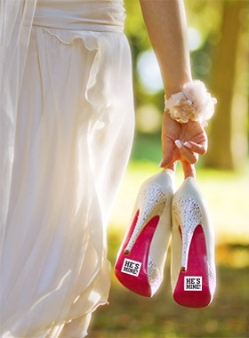 Autocollants Chaussures He's Mine Mariage