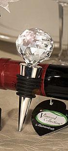 Bouchon Vin Boule Cristal Cadeau Invité
