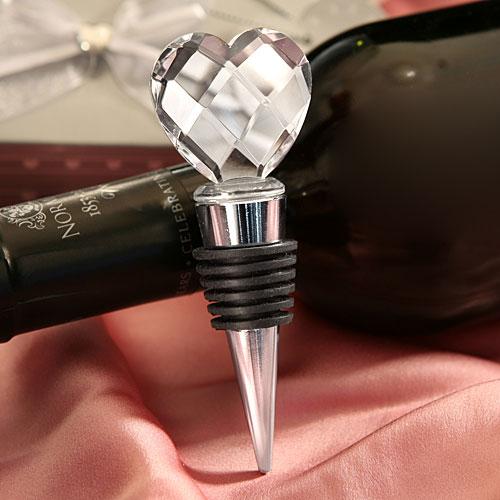 Exceptionnel Bouchon de Vin Coeur Cristal Cadeau Invité | Cadeaux Invités Mariage WN66