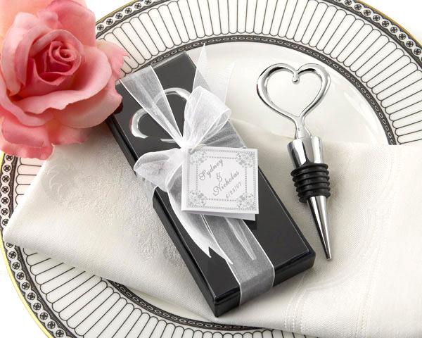 Préférence Bouchon de Vin Coeur Metal Argenté Cadeau Invité | Cadeaux Invités  JZ74