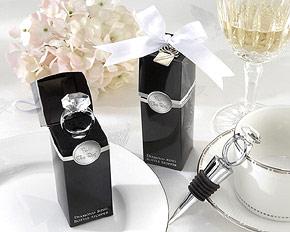 Bague Diamant Bouchon Vin Cadeau Invité
