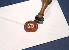 Cachet de Cire Enveloppe Bordeaux