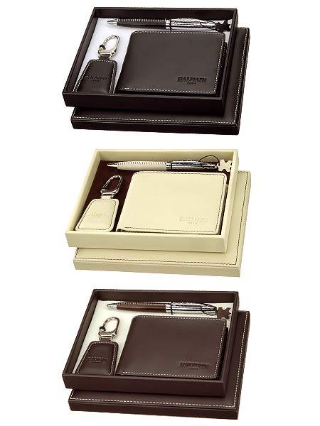 parures balmain portefeuille porte clef cuir personnnalis cadeaux t moins. Black Bedroom Furniture Sets. Home Design Ideas