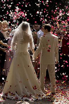 Lancer Confettis Coeurs Mariage