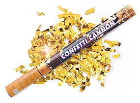 Canon Explosif Confetti Rectangles Metalliques Doré