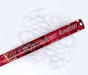 Canon Explosif Petales de Rose Blanc