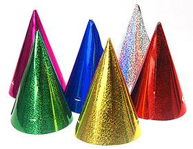 Chapeaux pointus brillants soirée