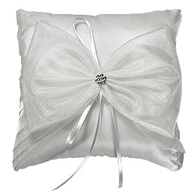 Coussin Alliance Noeud Organza