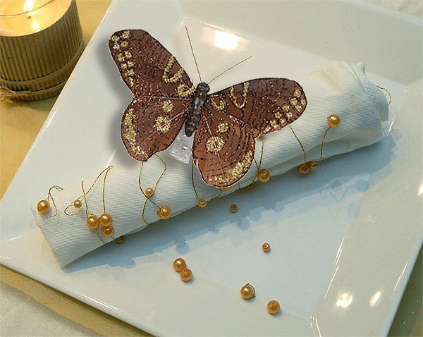 Papillon Decoration Table : Lot de papillons sur pince pailletés er prix
