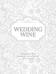 Etiquettes Autocollantes Bouteille de Vin Mariage Gris