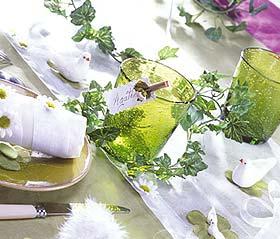 Guirlande de Lierre Décoration Table Mariage Vert Anis