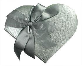 Livre d'Or Mariage Forme Coeur Argent