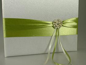 Livre d'Or Mariage Broche Perles