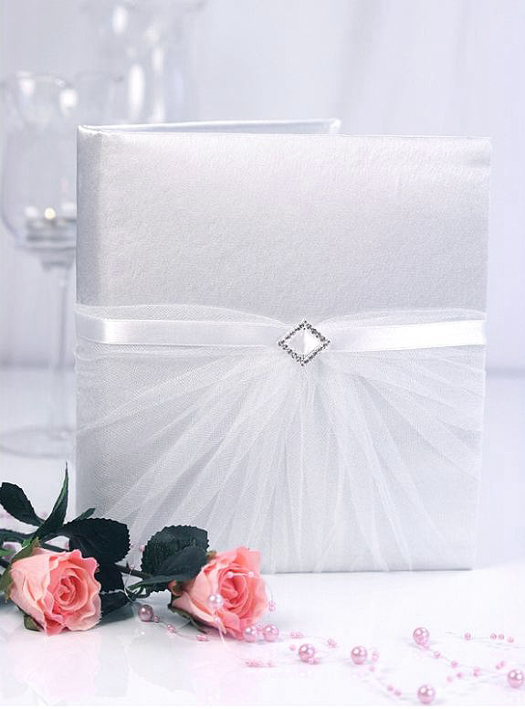 Livre d'Or Mariage Tulle Blanc