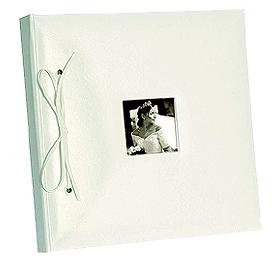 Livre d'Or Mariage Imitation Cuir Blanc