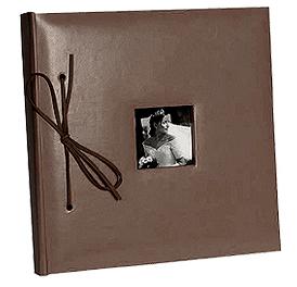 Livre d'Or Mariage Imitation Cuir Chocolat