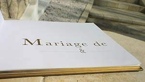 Livre d'Or Mariage Or