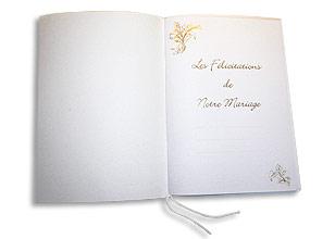 Livre d'Or Mariage Moiré et Doré