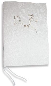 Livre d'Or Mariage Souple Colombes