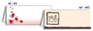 Chevalets Carton Marque-Places x10 Rose Beige - Taupe