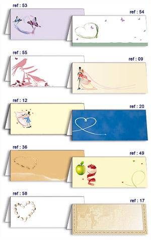 Chevalets Carton Marque-Places x10