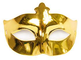Masque Loup de Fête Brillant pas cher Doré