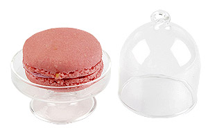 Mini Cloche en Verre sur Pied Macaron