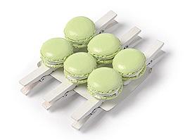 Petites Pinces Macaron x6 Vert Anis