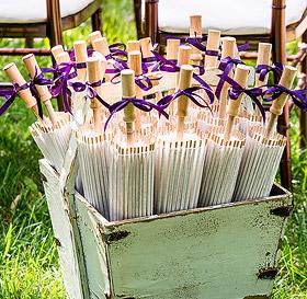 Ombrelle Bois Papier de Riz Cadeau Invité Mariage