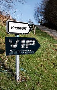 Pancarte Carton Signalisation Soirée VIP Noir