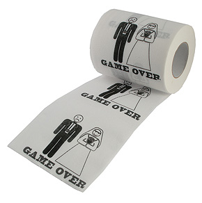 Rouleau Papier toilette mariage Game Over