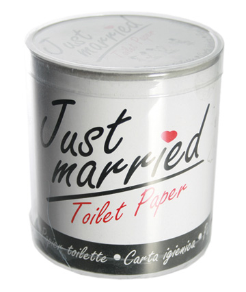Le rouleau de papier toilette just married les accessoires du mariage mar - Papier toilette mariage ...