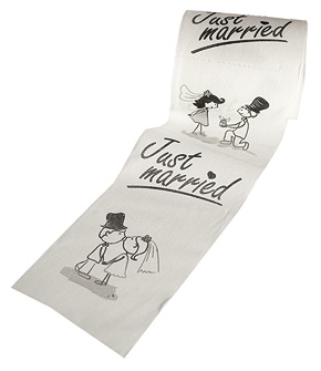 Rouleau Papier toilette Just married