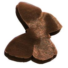 Papillon organza chocolat