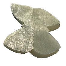 Papillon organza ivoire