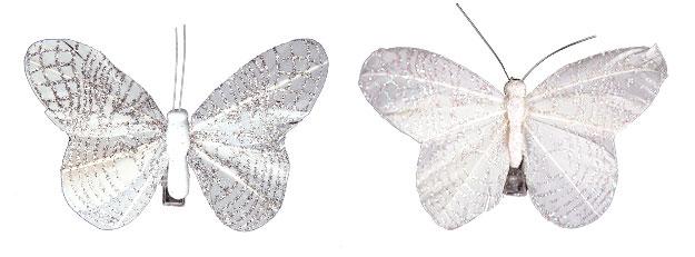 Papillons Pailletés Pince Décoration Table Mariage