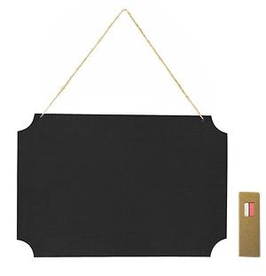Plaque Géante Ardoise Cordelette Direction Mariage Noir