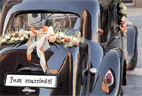 Plaque Voiture Mariage pas cher