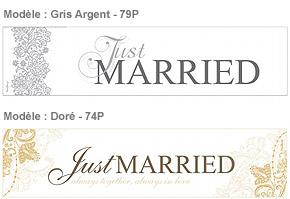 Plaque Voiture Mariage Doré