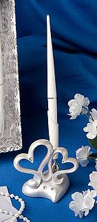 Porte Stylo Registre Livre d'Or Coeurs Entrelacés Stuc