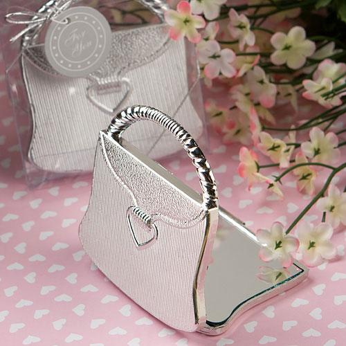 c43520d85ab6 Petit Miroir de Poche en forme de Sac pas cher   Cadeaux Invités Mariage