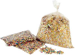 Sac confetti 100 gr ronds multi couleur