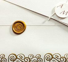 Lettres Initiales Cachet de Cire Or