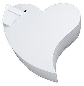 Urne Mariage Forme Coeur Blanc