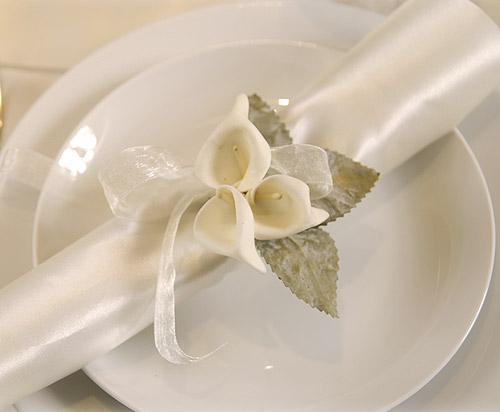 Lot de 12 petits arum sur tige d coration de table bapteme - Deco mariage orchidee ...